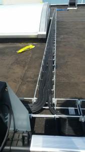 Draadgoot tbv. geleiding solar bekabeling